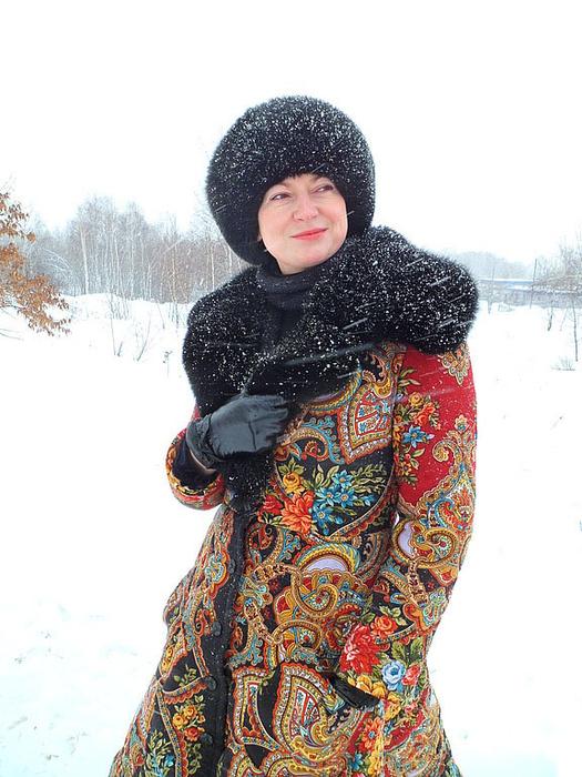 1514e53ab41 Зимняя одежда из павлопосадских платков. Обсуждение на LiveInternet ...