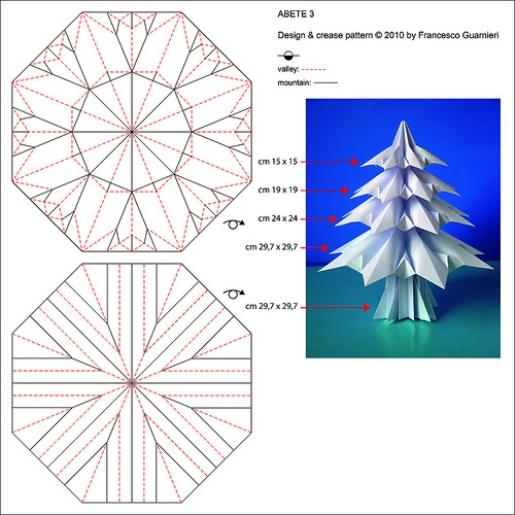 Модульное оригами елки - Оригами