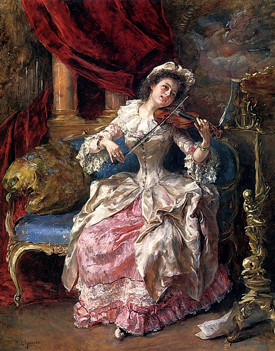 Eduardo Leon Garrido (1856 - 1906).A Musical Afternoon b (549x700, 404Kb)
