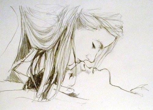 картинки влюблённых нарисованные