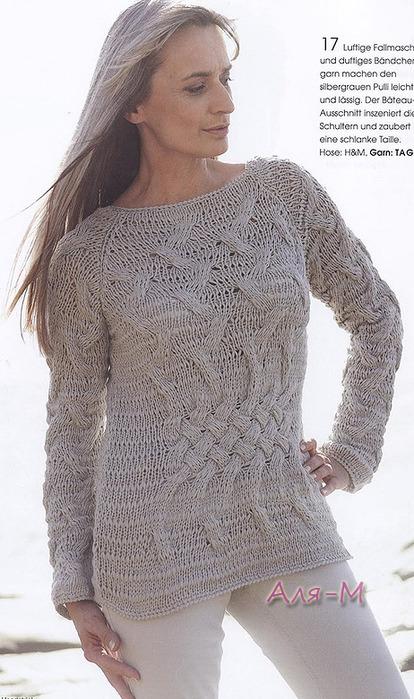 вязание пуловер хлопок спицы обсуждение на Liveinternet