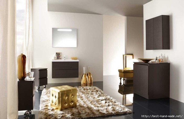 Best-Golden-Bathroom-with-Cream-Rug-1024x660 (700x451, 127Kb)