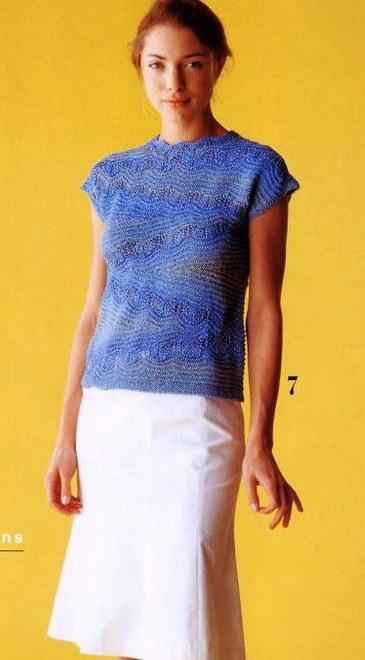 блуза спицами вязание укороченными рядами обсуждение на