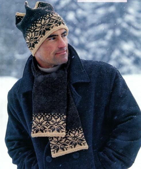 вязание крючком и спицами мужские шапки.