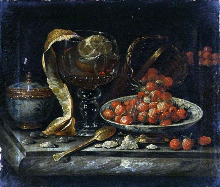 4000579_Still_Life_of_Chinese_Blue_and_White_Bowl_and_Cover_Glass_Roemer_Gold_Spoon_and_Fruit (700x596, 78Kb)