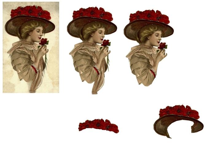 femme chapeau fleur rouge (700x525, 140Kb)