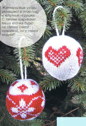 вязаные новогодние шары обсуждение на Liveinternet российский