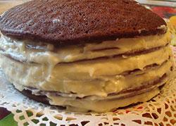 Простой пирог с кремом