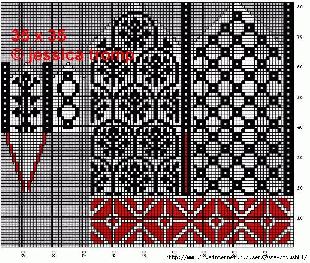 схемы вязания красивых варежек спицами
