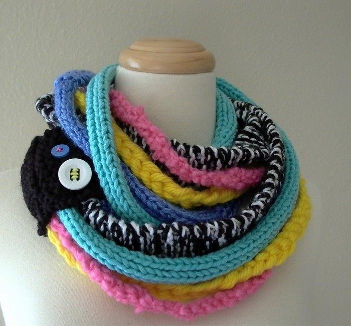 Оригинальные шарфы своими руками вязаные фото 363