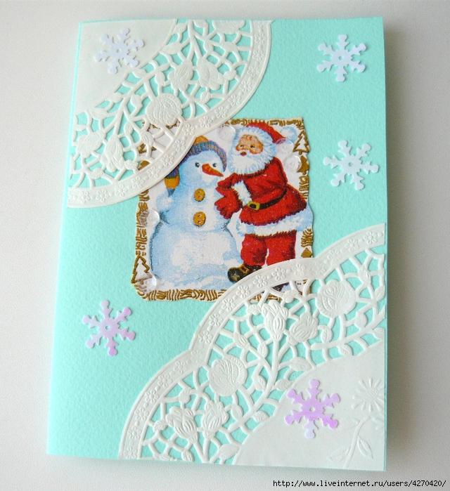 Открытки с рождеством своими руками из бумаги