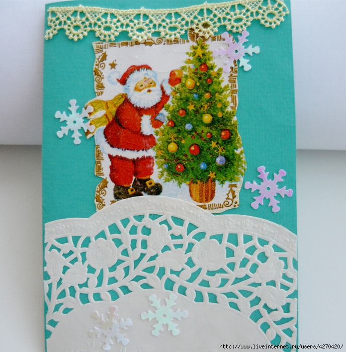 занятие новогодняя открытка своими руками покрытие