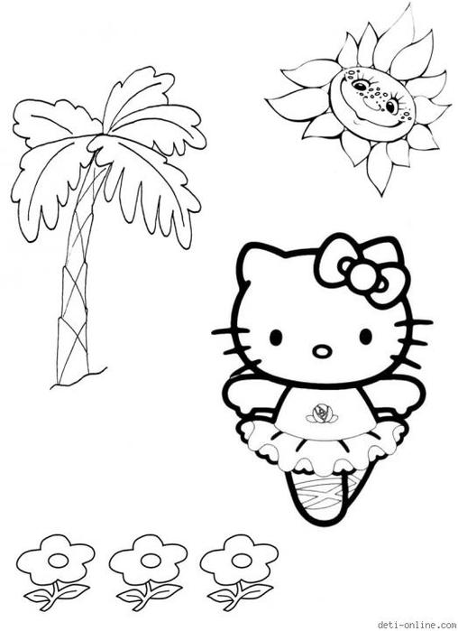 Интересно для детей. Раскраски Hello, Kitty! Часть 2 ...