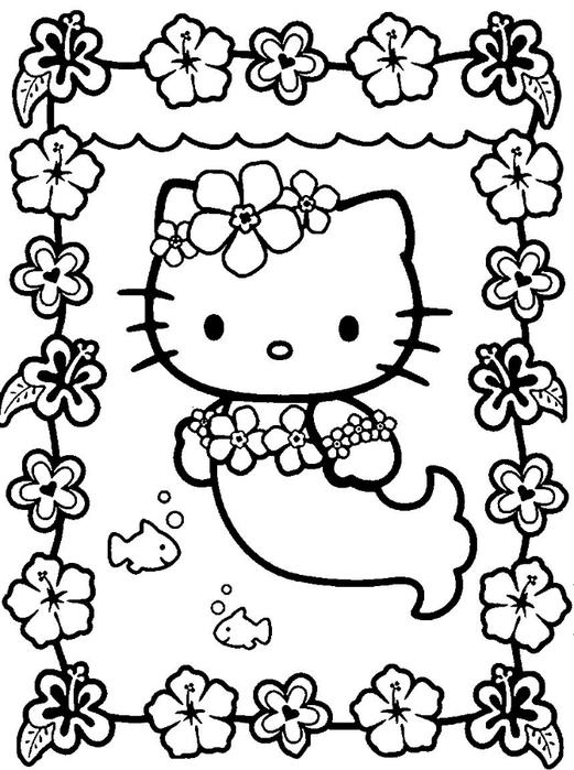 раскраски Hello Kitty часть 3 обсуждение на Liveinternet