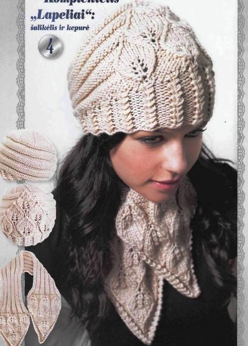 вязание спицамидетская шапкашарфлистья самое интересное в блогах