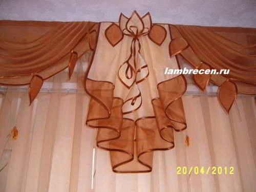 Схема штор ламбрекенов