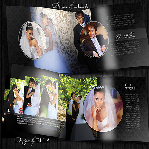 2-Template classic wedding books in dark style (500x500, 155Kb)