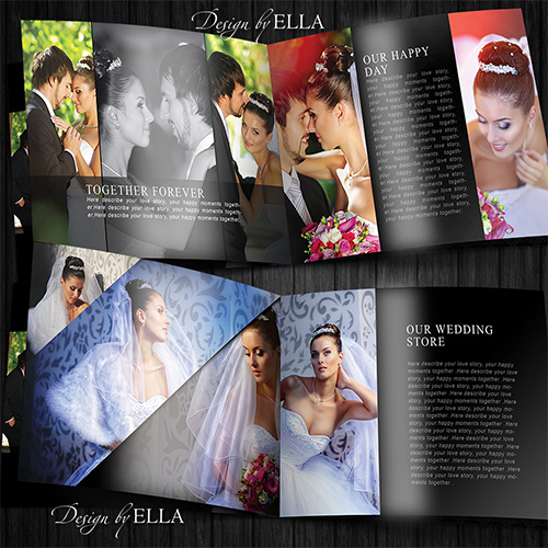 4-Template classic wedding books in dark style (500x500, 160Kb)
