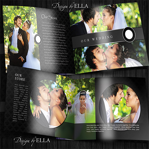 6-Template classic wedding books in dark style (500x500, 162Kb)