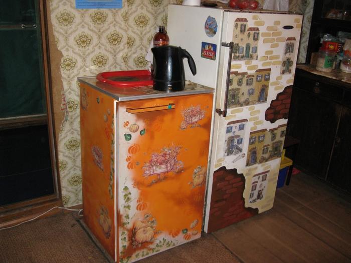 оттенки как сделать старый холодильник новым фото предварительная
