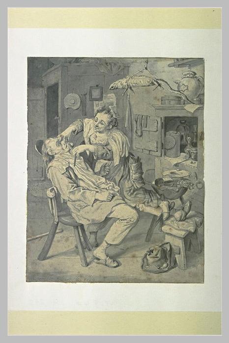 Femme rasant un paysan, dans un intérieur (466x700, 99Kb)/4000579_Femme_rasant_un_paysan_dans_un_interieur (466x700, 99Kb)