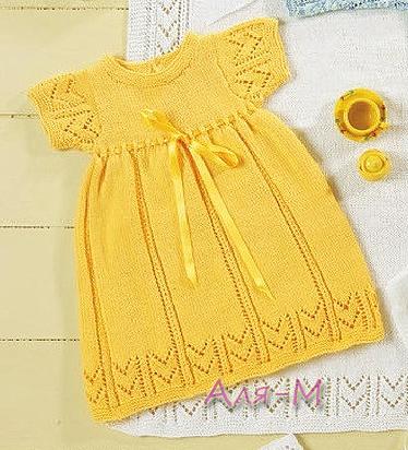 Вязаные детские платья. Почти 30 схем. - Вязание спицами 44