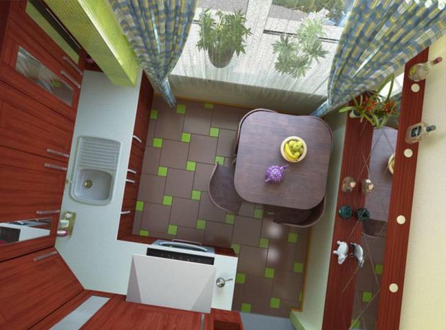 Дизайн маленькой кухни в хрущевке. Обсуждение на LiveInternet - Российский Сервис Онлайн-Дневников