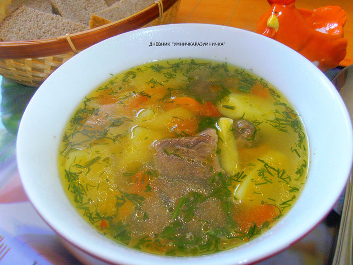 Наваристый суп из говядины