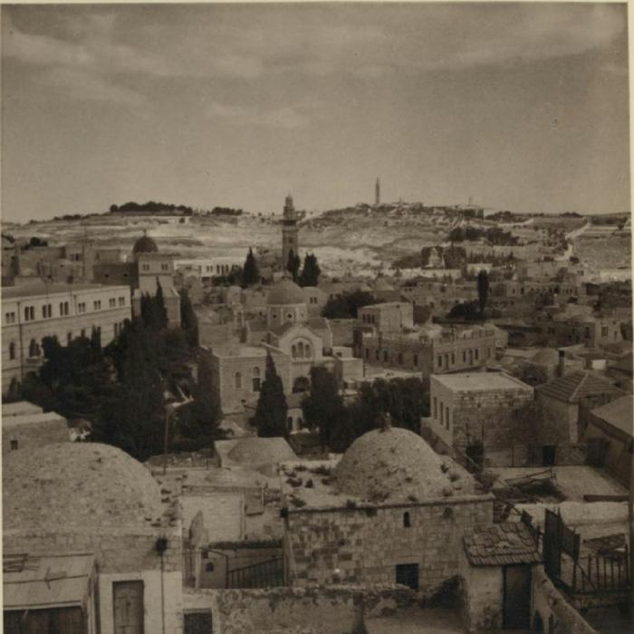 42 Вид на Иерусалим и Елеонскую гору из польского хосписа, 23 октября (700x700, 318Kb)