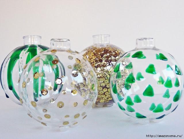Необычное применение елочных шаров. Миниатюрные вазочки для цветов. Обсуждение на LiveInternet - Российский Сервис Онлайн-Дневни