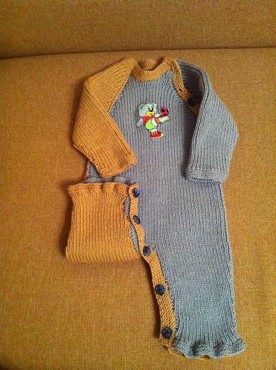 Вязание для самых маленьких комбинезон