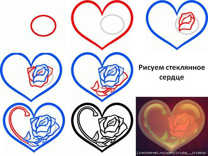 функциональные рисунки сердечки поэтапно придет большой
