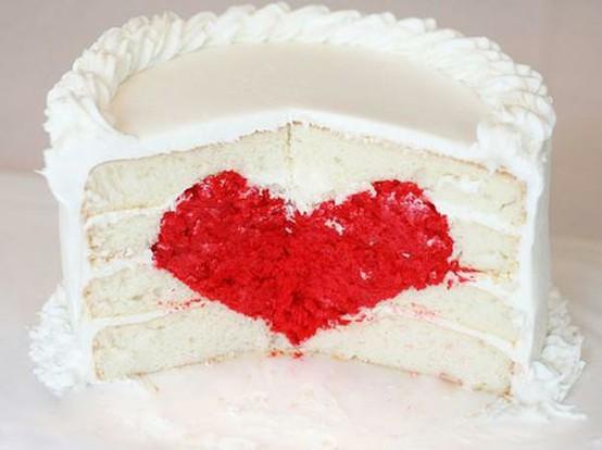 Как сделать торт с сердцем внутри