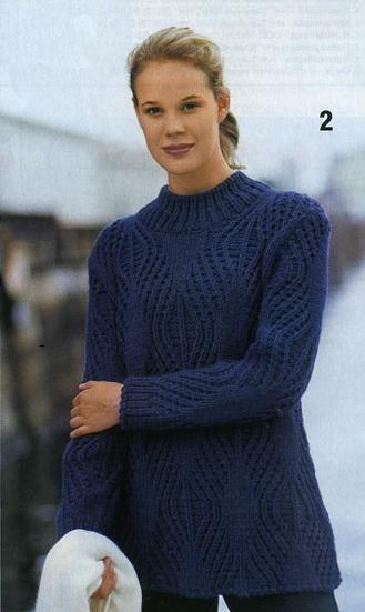 схема вязания свитера спицами самое интересное в блогах