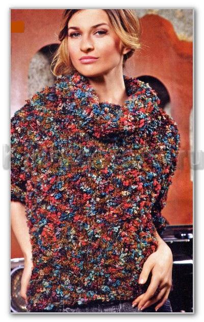 сколько пряжи на женский свитер