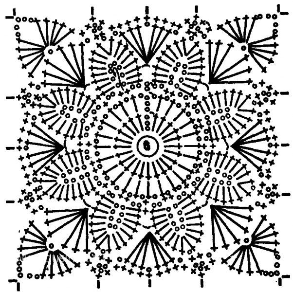 ажурные квадраты крючком со схемами