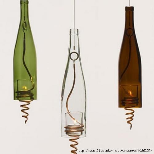 Поделки из бутылок стеклянных - Поделки, делаем самостоятельно