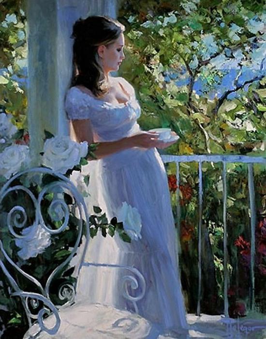 Картина Девочка В Белом Платье