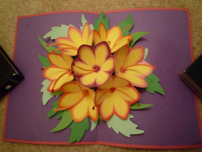 Открытки, как сделать открытку с цветком видео