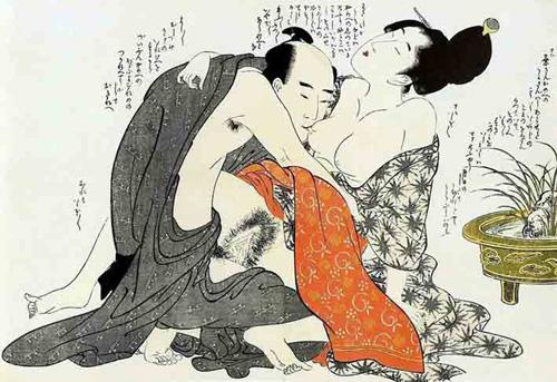 Секс по японски гравюра