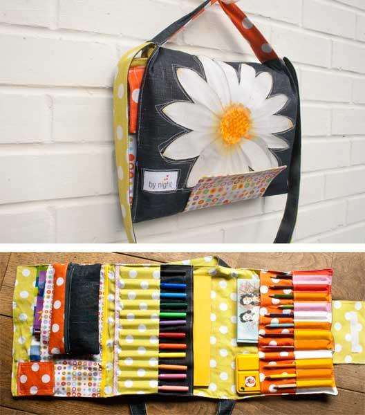 Сшить своими руками сумку для карандашей, фломастеров, красок. Обсуждение на LiveInternet - Российский Сервис Онлайн-Дневников
