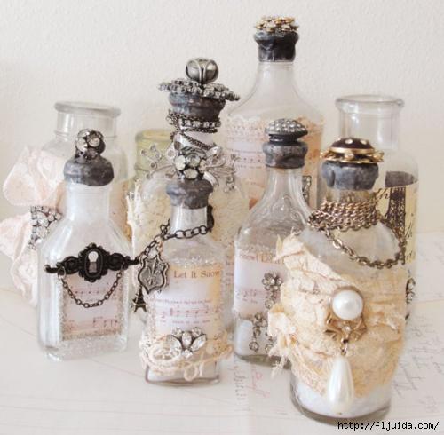 Вазы из бутылок и банок своими руками Дизайн интерьера Декор своими руками