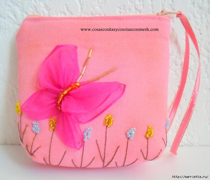 Как сшить сумочку-кошелек с вышивкой. Мастер-класс