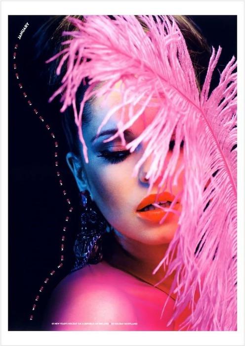 Официальный календарь Cheryl Cole. Фотографии
