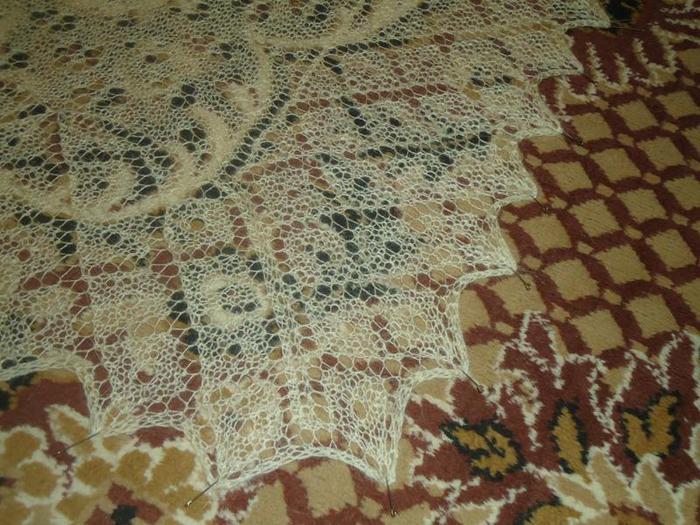 схемы и описание вязания шали и оренбургского пухового платка