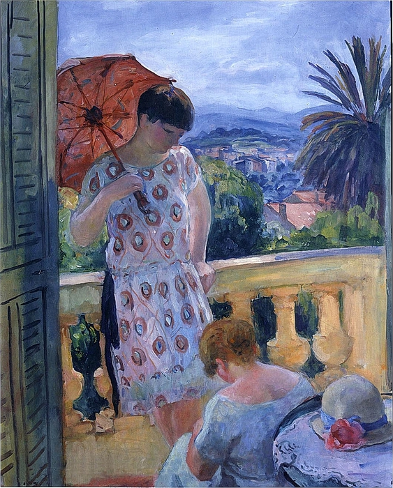 View of Esterel from the Balcony-Henri Lebasque - 1916 (563x700, 389Kb)