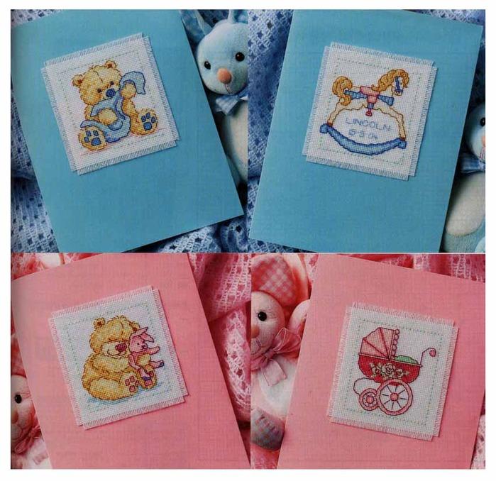 Платье, открытки для новорожденных с вышивкой