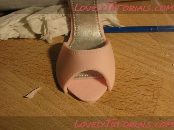 туфелька из мастики мастер класс с пошаговыми