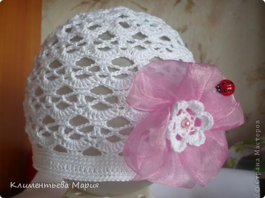 вязание детская ажурная шапочка