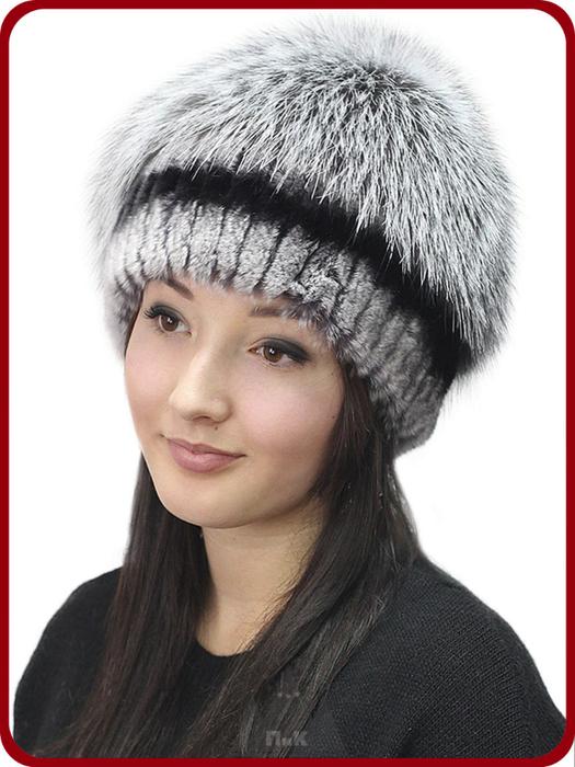 Фото вязаные меховые шапки